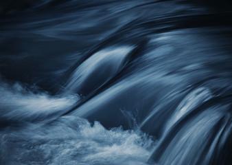 Fototapeta dark blue ripples on the river obraz