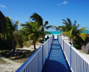 Steg auf Cayo Coco, Kuba, Karibik