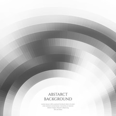 Abstract background with curved geometric shapes. Monochrome colors.