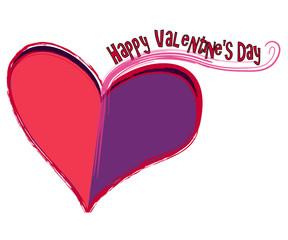 Valentinsherz mit dem Text Frohen Valentinstag