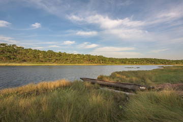 A lagoa Cuanavale (nascente do rio Cuanavale) na província do Moxico em Angola