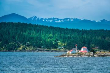 Entrance Island, Strait of Georgia near Nanaimo, Vancouver Island, British Columbia, Canada.