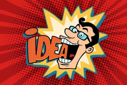 idea and man, the joyful businessman