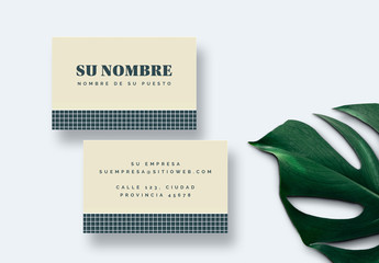 Diseño de tarjeta de visita clásico