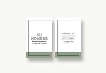 Diseño de tarjeta de visita actual