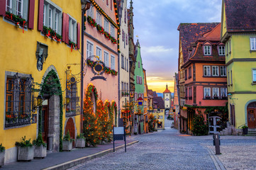 Rothenbug ob der Tauber historical Old Town, Germany