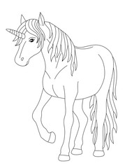 fairy unicorn, coloring page