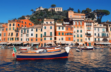 Fotomurales - Beautiful view in Portofino. Italy