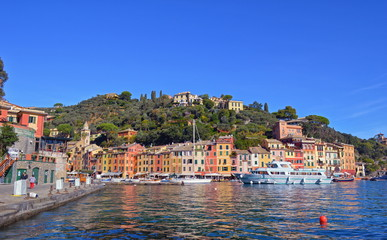 Fotomurales - Traditional houses in Portofino. Italy