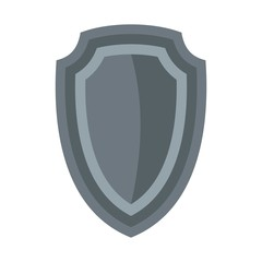 Army shield icon, flat style