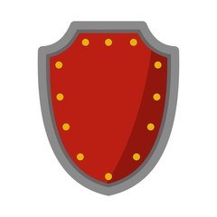 Army protective shield icon, flat style