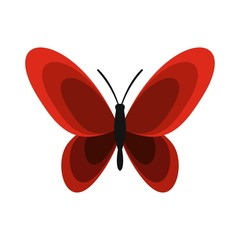 Butterfly icon, flat style