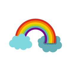 Rainbow in LGBT color icon, flat style