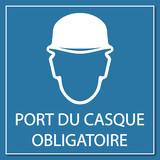 Logo port du casque obligatoire fichier vectoriel libre de droits sur la banque d 39 images - Port du casque obligatoire ...