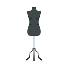 Sewing mannequin icon, flat style