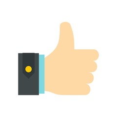 Thumbs up icon, flat style