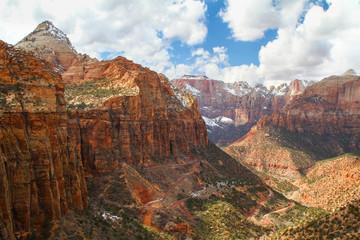 Photo sur Toile Canyon Zion National Park