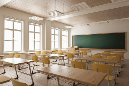 Empty Classroom for Large Classes