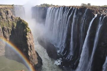 Victoria Falls with Rainbow