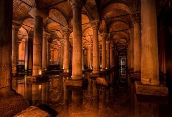 The Basilica Cistern - Istanbul, Turkey. Wall mural