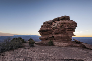 Rocks in canyon at sunset, Moab, Utah, United States