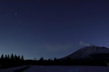 冬の夜の浅間山
