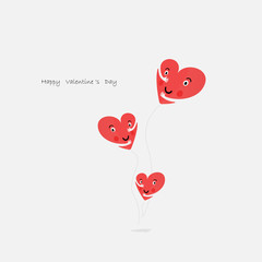 Heart icons vector logo design template.Love concept.Valentine's Day Vector Card.Love & Happy valentines day concept.Vector illustration