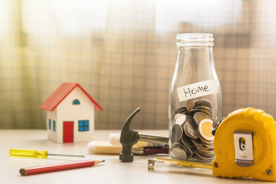Saving for new home concept