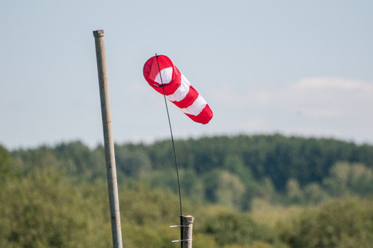 windsock used to determine direction and wind speed