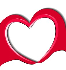 Hands doing a love heart logo vector