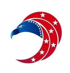 Eagle USA flag logo vector symbol