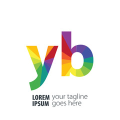 Initial Letter YB Gradient Logo