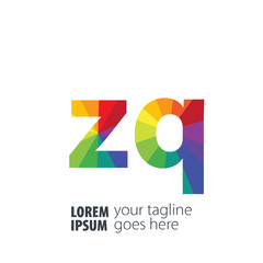 Initial Letter ZQ Gradient Logo