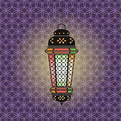 Vector Ramadan illustration with lantern