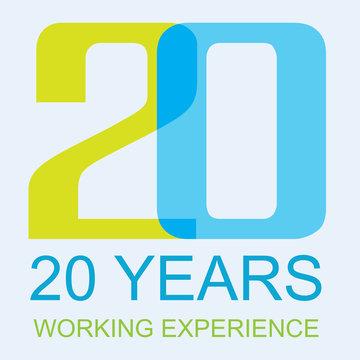 Logo 20 Year Experience Award.