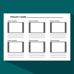 storyboard template dark
