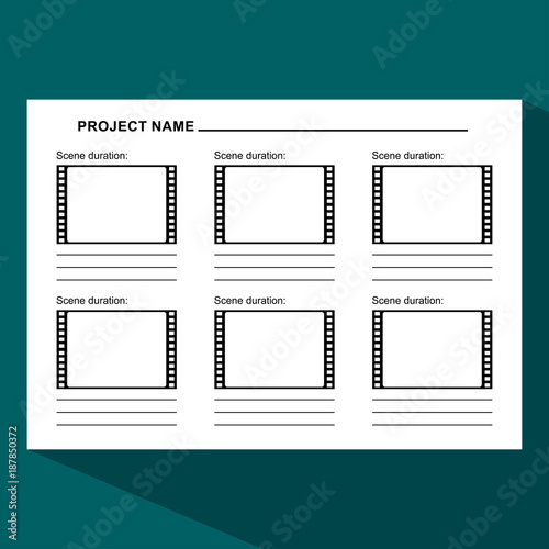 Storyboard Template Dark Stock Image And Royalty Free Vector Files