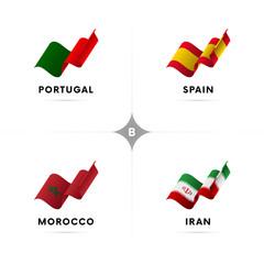 Football tournament table. Vector illustration.