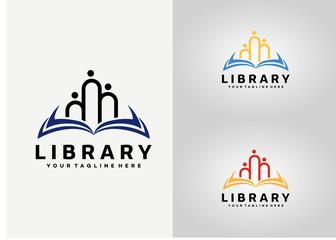 Library Logo Template Design Vector, Emblem, Design Concept, Creative Symbol, Icon