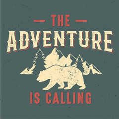 The Adventure Is Calling - Tee Design For Print