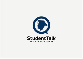 Student Talk Logo Template Design Vector, Emblem, Design Concept, Creative Symbol, Icon