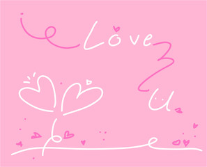 love Collection on white background, vector illustration.