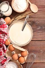 cooking pancake, crepe