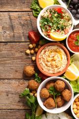selection of lebanese food