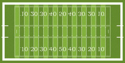 American football field. Vector illustration. Textured Grass American Football Field.