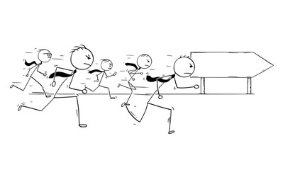 Conceptual Cartoon of Competition in Business