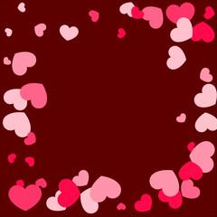 Paper Hearts Origamy Confetti Background.St. Valentine's Day pattern.
