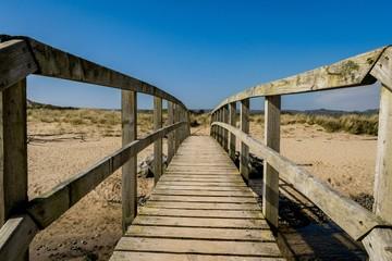 bridge on a beach