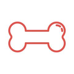 Knochen - Icon, Symbol, Piktogramm, Bildmarke, grafisches Element - rot, weiß - Web, Druck - Vektor