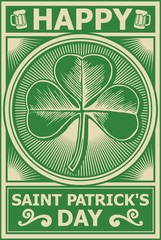 happy st. patricks day poster